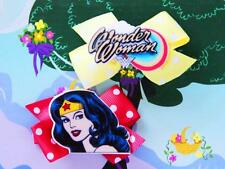 DC Super Hero Girls Wonder Woman Inspired Costumes Dress Up Handmade Hair Clips