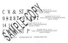98237 CM & ST P Waterslide handmade Decals for the Prewar 14 Boxcar