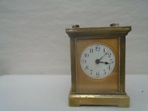 Fabulous French antique R & CO brass skeleton carriage clock   NICE ATTIC FIND