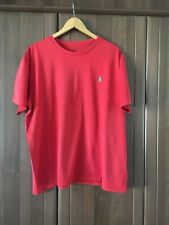 Polo Ralph Lauren Mens Crew Neck T Shirt Embroidered Pony Logo Red Size XL