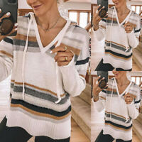 ❤️ Women's Knitted Jumper Long Sleeve Sweater Hoodie Ladies Casual Pullover Tops