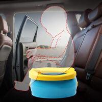 Baby Infant Chamber Pots Cartoon Banana Foldaway Toilet Training Seat Travel Pot