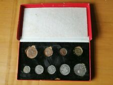 More details for 1950 royal mint proof 9 coin set in original box.