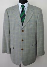 HUGO BOSS Tweed Check 100% Wool Mens Blazer UK 40L Jacket Suit Eur 50L 98 Harris