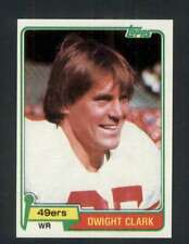 1981 Topps #422 Dwight Clark NM/NM+ RC Rookie 49ers 118132