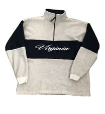 Vintage 90s 1/4 Zip Sweatshirt Pullover Virginia Color Block Sz Xl Made In Usa