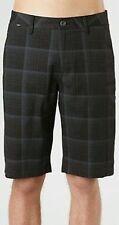 Fox Head Essex OP Casual Shorts Black Plaid Men's Size 28W 22L New