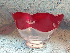 Nos Avon Lenox Crimson Splendor Clear/Red Bowl