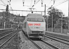 PHOTO  FRENCH TRAIN - TGV LA POSTE  C L QUNCEY SEP87