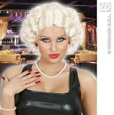 Ladies Short Blonde Flapper Wig Chicago Charleston Madonna Fancy Dress