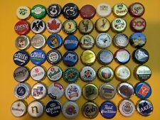 56 Canadian and world beer bottle caps