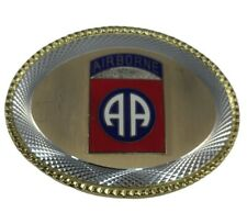 New listing Us Army 82nd Airborne Division Belt Buckle All Metal Pre-owned