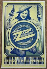 Zz Top 2012 Gig Poster Edgefield Portland Oregon Concert Version 1 of 2