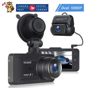 TOGUARD Dash Cam 1080P+1080P FHD Front and Rear Dual Lens Car Camera Recorder CA