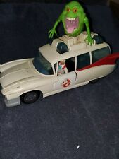 Ghostbusters Ecto-1 1984 2 figures and Slimer! Kenner The Real Ghostbusters