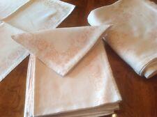 Bellora Italian Linen & Cotton Tablecloth / 12 Napkins Extra Long 104 x 52 Italy