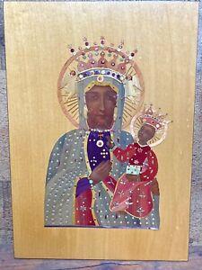 Icon Black Madonna Częstochowa Our Lady Mary Child Jesus Poland Virgin Mary