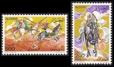 ALGERIE N°671/672** Cavaliers, chevaux 1977, ALGERIA horsemen, horses MNH