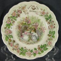 Royal Doulton Brambly Hedge Summer Salad Plate Jill Barklem Bone China England