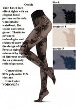 Oroblu Freesia lace tights tulle-based lace effect tights elegant floral pattern