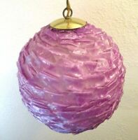 1960s Rare * PURPLE * LUCITE RIBBON SPAGHETTI SWAG LAMP Chandelier Light Globe