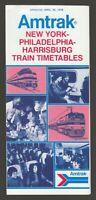 [75172] 1976 AMTRAK NEW YORK-PHILADELPHIA-HARRISBURG RAILROAD TIMETABLE