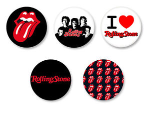 Lot Pack Badge Button Ø25mm The Rolling Stones Mick JAGGER Rock UK