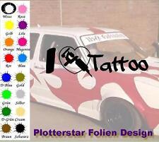 I Love Tattoo nr2 JDM Sticker Aufkleber Geil Fun Maschine Autoaufkleber