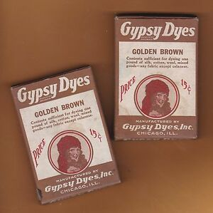 d1930's-1940's Gypsy Dye boxes, Golden Brown color, never opened, Lot 2