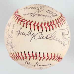 Detroit Tigers Team-Signed Baseball (23) Stars & HOFers Incl. Sparky Anderson...