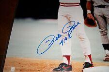 "Pete Rose ""4192"" Autographed 16x20 Signed Photo Signed in Crisp Blue Sharpie"