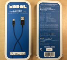 2X NEW Modal 4ft Braided USB to Lightning Charge & Sync Cable Apple Devices Blue