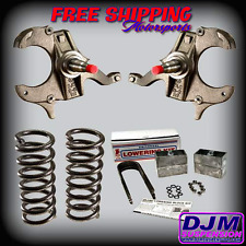 "DJM Suspension S10 S15 Sonoma Blazer 3"" Lowering Drop Spindle Coil 3"" Blocks kit"