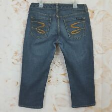 Seven Jeans 28 Stretch Denim Crop Capri Pants Inseam 18.5