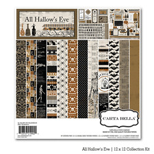 "CARTA BELLA ""ALL HALLOW'S EVE"" 12X12 PAPER   HALLOWEEN SCARY SCRAPJACK'S PLACE"