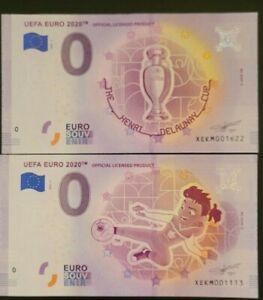 0 Euro Schein UEFA EURO 2020 Official Licensed Product im Set -  Souvenirscheine