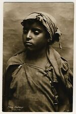 Libia italiana beduina/Beduin Girl Italian libia * vintage 20s ethnic photo PC