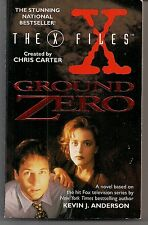 GROUND ZERO ~ HARPER FICTION X-FILES TV TIE-IN 1996 KEVIN ANDERSON (SIGNED)