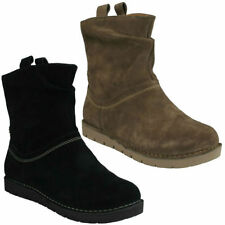 Suede Casual Pull on Ankle Boots for Women
