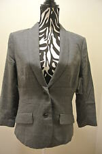 NWT.Ladies' theory blue heather / buttoned/pockets long sleeve lined blazer;12