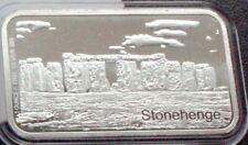 More details for stonehenge 1oz .999 fine silver bullion bar in capsule - free uk mainland p&p
