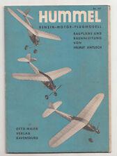 Hummel Benzin Motor Flugmodell Bd. 187 Otto Maier Ravensburg um 1935 (H1