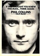 14/2/81PGN19 ADVERT: PHIL COLLINS FIRST SOLO ALBUM FACE VALUE 15X11