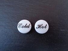 Hot & Cold Tap Indices Bathroom Basin Tap Caps Push-In Tops 1 pair