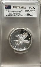 2015 AUSTRALIA WEDGED TAILED SILVER EAGLE PCGS PR70 DCAM HIGH RELIEF MERCANTI