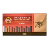 Koh-I-Noor 8522 Toison D'Or Soft Chalk Pastels in Brown & Grey - Sets of 12