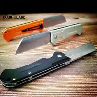 D2 Blade Ball Bearing Knives G10 Handle Folding Knife Plain Edge Survival EDC