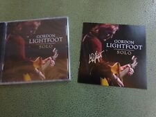 Perfect AUTOGRAPHED / SIGNED Gordon Lightfoot Solo CD Album Booklet