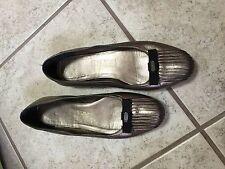 Ferragamo Flats Gray 7 1/2
