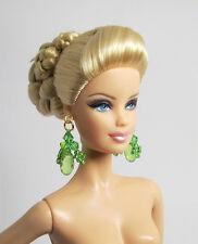 Handmade Green Earrings Fashion Jewelry Earrings For Barbie FR Silkstone Doll